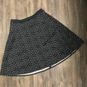Catherine Malandrino Floral Cutout Black Skirt